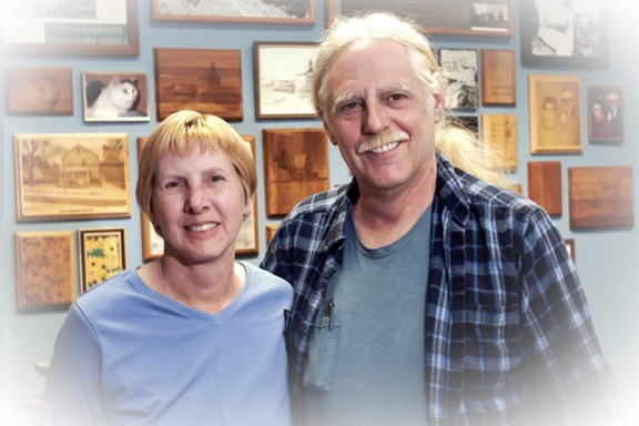 Ann and Peter, owners of Touch of Wood Laser Engraving and Elite Engraving and Awards