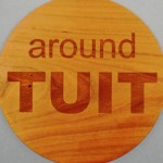 Laser Engraved and Cut Cherry-Wood A Round TUIT