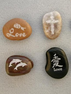 Custom Laser Engraved River stones