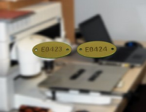 Engraved Oval Brass Tags