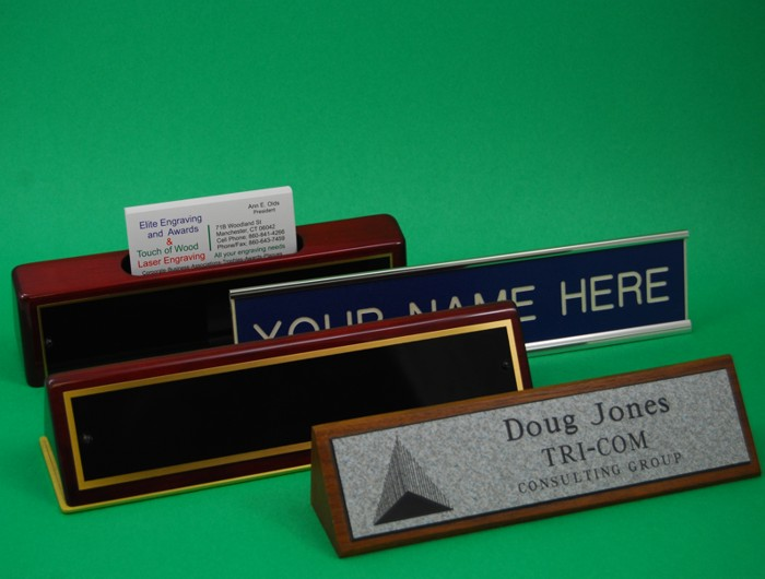 Desk Nameplates in a wide range of styles and materials