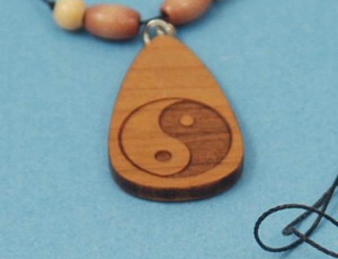 Yin Yang Beaded Necklace