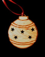 Custom Round Engraved Wood Ornament