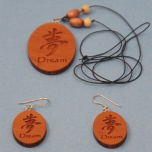 Engraved Dream Necklace & Earrings