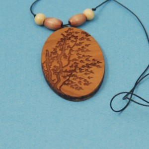 Engraved Tree-2 Necklace