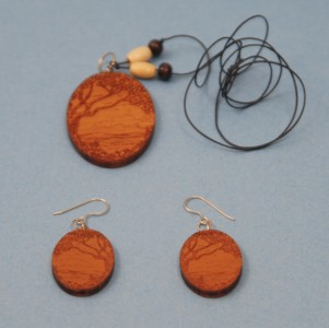 Tree Necklace & Earrings