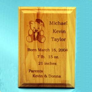 Special Occasion Plaque Birth Announcement example
