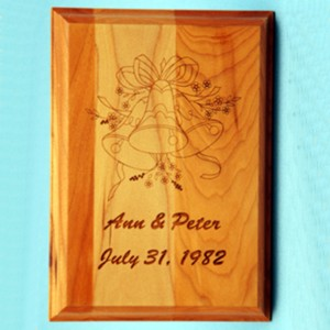 Special Occasion Cherry-wood or Alder -wood Plaque
