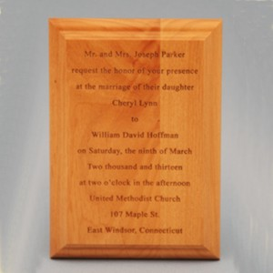 Custom Marriage Invitation Special Occasion Wood Plaque