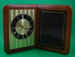 Airflyte Edge Clock Diamond cut face Black Brass Plate Engraving Included