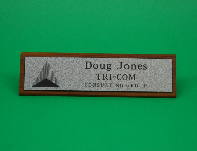 Nameplate, Walnut-wood