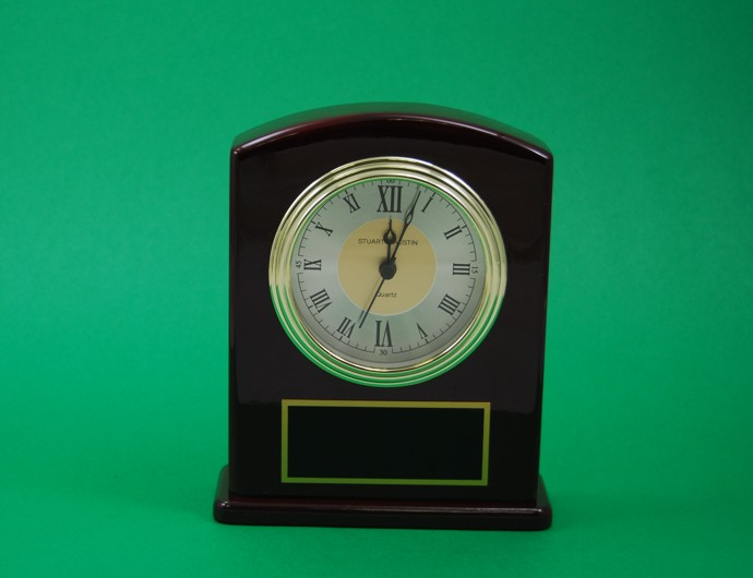Rosewood Finish Clock
