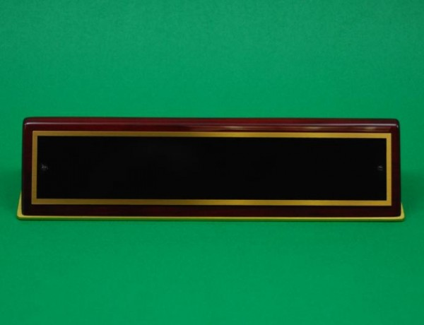Nameplate, Piano-finish Rosewood Stain