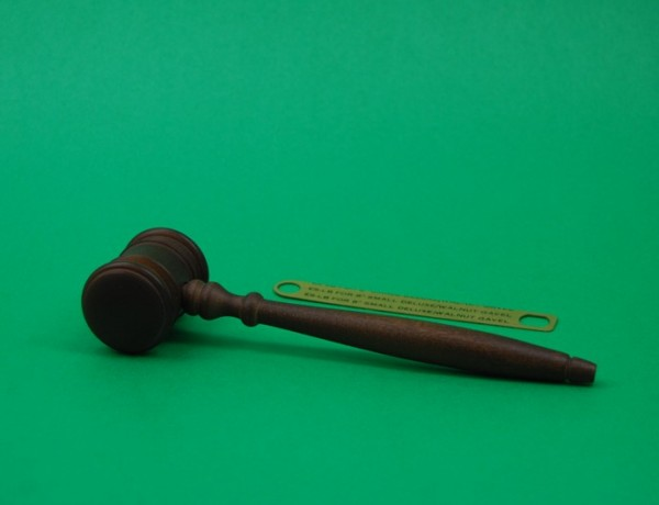 "8"" Walnut Finish Gavel"