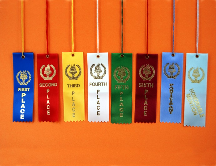 Victory Torch Square Top Ribbons