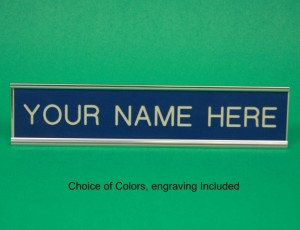 Nameplate, Aluminum, Choice of Engravers Plastic Engraving Included 2'x 2'x 10'