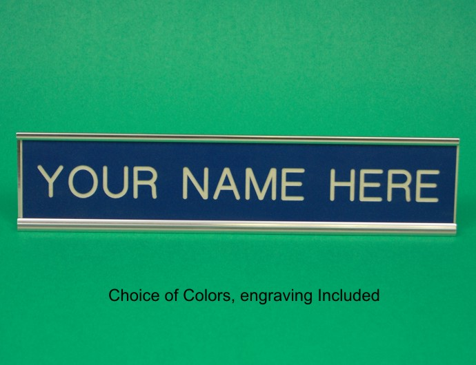 Nameplate, Aluminum, Choice of Engravers Plastic